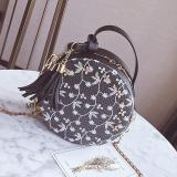 Korean Style Tassled New Style Mini Round Bag Small Bag Black Free Shipping
