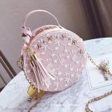 The Cheapest Korean Style Tassled New Style Mini Round Bag Small Bag Pink Online