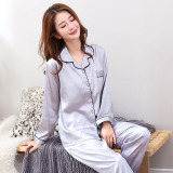 Price Women S Korean Style Long Sleeve Viscose Pajama Set Gray Gray China
