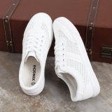 Discount Korean Style White Female Plus Sized Breathable Casual Sneaker Sneakers White China