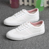 Korean Style White Female Plus Sized Breathable Casual Sneaker Sneakers White Powder Oem Discount