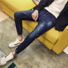 Sale Men S Korean Style Slim Fit Tattered Jeans 210 Models 210 Models Other Original