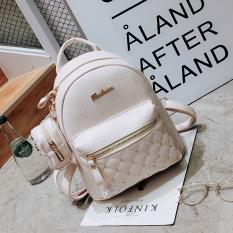 Coupon Korean Version Of Female Mini Small Backpack Shoulder Bag Off White