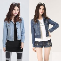 Buy Cheap Mm Korean Style Slimming Effect Spring Female Top Short Paragraph Denim Jacket