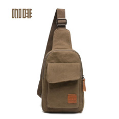 Who Sells Korean Version Of The New Men S Chest Pack Messenger Bag Canvas Bag Casual Man Bag Tide Small Bag Purse Sports Bag Riding Package Coffee Color Cheap
