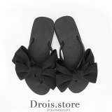 Korean Style New Style Flat Thick Bottomed Sandals Slippers Black Black Online