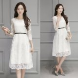 Price Spring And Autumn Temperament Lace New Tide Korean Style Embroidery Dress White Oem Online