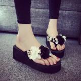 Women S Korean Style Plus Size Flip Flop Sandals Black 808 1 High Heel 6 Cm Black 808 1 High Heel 6 Cm Lower Price