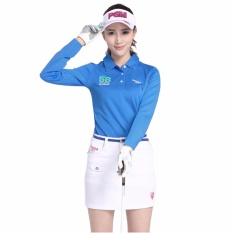 Sale Korean Version Outdoor Lady Classic Golf Ball Suit Clothing Women Long Sleeve Golf T Shirts Clothing Golf Warm Clothing Blue Intl Online On China