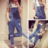Who Sells Korean Women S Denim Jeans Fashion Baggy Overalls Intl Cheap