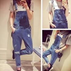 Korean Women S Denim Jeans Fashion Baggy Overalls Intl Review