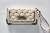 Quilted Kk 605207 Riveted Half Zip Wallet Fashion Clutch Beige Beige Discount Code