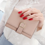 Compare Price South Korea Female Thin Arrow Wallet New Wallet For Women Apricot Pink Apricot Pink On China