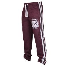 Best Price Kuhong Casual Hip Hop *d*lt Men S Jogging Gym Sports Track Pants Stripes Drawstring Intl