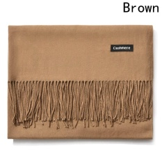 Compare Prices For Kuhong New Fashion Winter Warm Women Men Cashmere Scarf Brown Intl