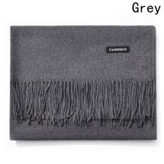 Great Deal Kuhong New Fashion Winter Warm Women Men Cashmere Scarf Grey Intl