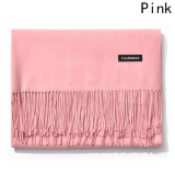 Kuhong New Fashion Winter Warm Women Men Cashmere Scarf Pink Intl In Stock