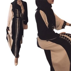 Kuhong Women Kaftan Abaya Jilbab Islamic Muslim Long Sleeve Dress - Intl By Kuhong.
