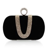 Discounted La Vie Women Chains Full Rhinestone Evening Clutches Party Bag Black Intl