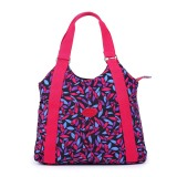 Who Sells Ladies Casual Waterproof Nylon Bag Shoulder Bag Flower Cloth 2017 New Handbag Mother Bag Canvas Bag Shopping Bag Red Cheap