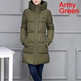 Buy Cheap Ladies Coat Women Jacket Casual Down Parkas Cotton Stylish Winter Jackets Army Green Intl