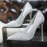 Best Offer Ladies Fashion S*xy High Heels Sandals Wedding Shoes Silver Intl