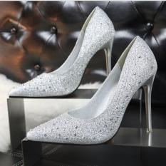 Ladies Fashion S*xy High Heels Sandals Wedding Shoes Silver Intl Coupon Code