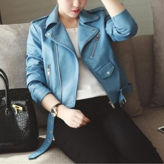 Price Ladies Faux Leather Racing Style Biker Jacket Intl Online China