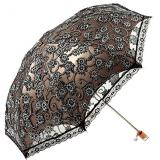 Sale Ladies Lace Parasol Folding Umbrella Sun Shade Anti Uv Black Oem