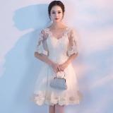 Ladies Wedding Dress Elegance Women Fashion Lace Evening Dress Champagne Intl For Sale