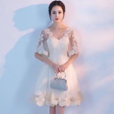 Sale Ladies Wedding Dress Elegance Women Fashion Lace Evening Dress Champagne Intl Blessume Wholesaler