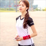 Compare Prices For Ladies S Sportswear Running Short Sleeves T Shirts Yoga Clothes Fast Dry T Shirts Suitable For Fitness、zumba、yoga And Jogging Intl