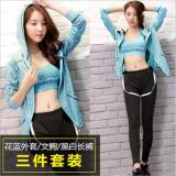 Price Ladies S Sportswear Running Suit Yoga Clothes Fast Dry Three Piece Include Coat Sports Bras Pants Int Xl Intl Oem New