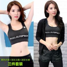 Buy Ladies S Sportswear Running Suit Yoga Clothes Fast Dry Three Piece Include Sports Coat Bra Pants Int Xxl Intl On China