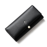 Best Reviews Of Lady Long Slim Wallet Flap Buckles Purse Clutch Card Holder Bag Black Intl