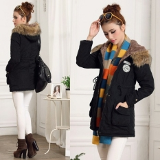 Buy Lady Women Thicken Warm Winter Coat Hood Overcoat Long Jacket Outwear Intl Oem Original