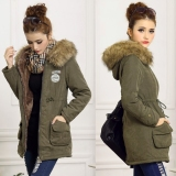 Price Comparisons Of Lady Women Thicken Warm Winter Coat Hood Overcoat Long Jacket Outwear Intl