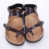 Price Lalang Cork Gladiator Beach Shoes Slippers Unisex Lovers Sandals Flats Brown Intl Online China