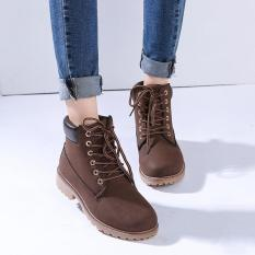 Price Lalang Fashion Women Ankle Martin Boots Military Combat Shoes Brown Intl Lalang Original