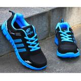 Lalang Men Outdoor Sport Jogging Running Shoes Sneakers Casual Mesh Breathable Trainers Low Cut Flat Shoes Blue Intl Lalang Discount