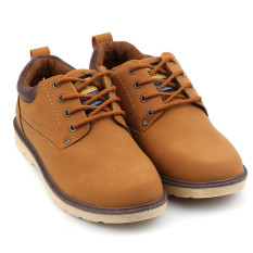 Lalang Men Shoes Pu Leather Causal British Tooling Shoes Yellow Intl Coupon Code
