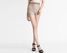 LALANG Women Anti-Off Cored Silk Pantyhose Ultra-Thin Socks (Light Grey)