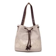 LALANG Women Handbag Leisure Large Capacity Canvas Portable Shoulder Bag (Beige) - intl