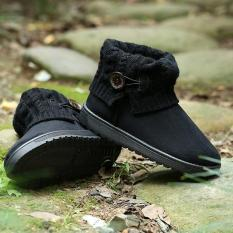 Review Lalang Women Snow Boot Ankle Short Boots Winter Warm Platform Shoes Black China