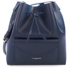 Price Lancaster Smooth Leather Large Bucket Bag Dark Blue Singapore
