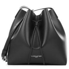Cheaper Lancaster Smooth Leather Small Bucket Bag Black