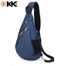 Large Capacity Chest Bag For Men Female Nylon Sling Bag Blue For Sale Online