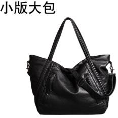 Sale Large Capacity Shoulder Messenger Bag Leather Women S Bag Small Version Black Large Bag