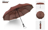 Price Simple Compact 2 Person 10 Rib Automatic Tri Fold Umbrella Brown Brown Oem New