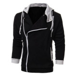 Large Size Mens Sports Sweater Zipper Jacket Hoodie Sweatshirts Black Shop